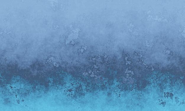 3d verweerde grijze en blauwe achtergrond van de cementmuur