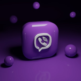 3d viber logo-applicatie