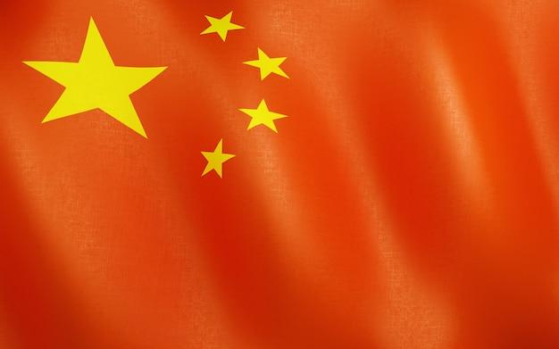 3d vlag van china.