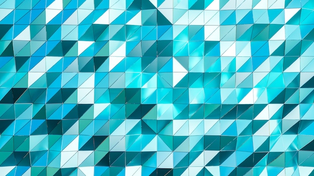 3d-weergave. blauwe driehoekige abstracte achtergrond.