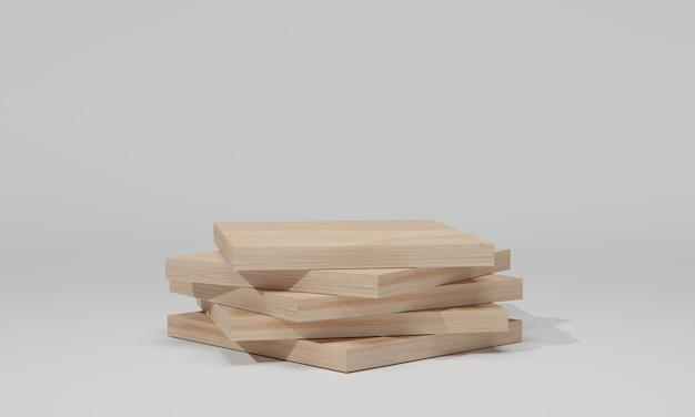 3d-weergave. houten plank geïsoleerd. bouwmateriaal.