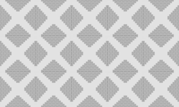 3d-weergave. naadloze eenvoudige grijze vierkante rasterpatroon muur achtergrond.