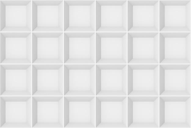 3d-weergave naadloze moderne wit grijs vierkant rasterpatroon muur ontwerp textuur achtergrond.