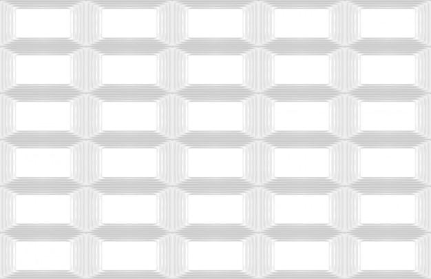 3d-weergave. naadloze moderne witte rechthoek raster ontwerp muur kunst achtergrond.