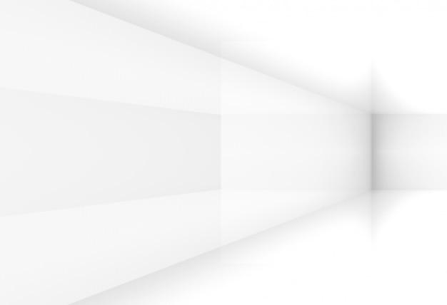 3d-weergave. perspectief van modern eenvoudig minimaal lichtgrijs hoekdoosdoos muurontwerp.