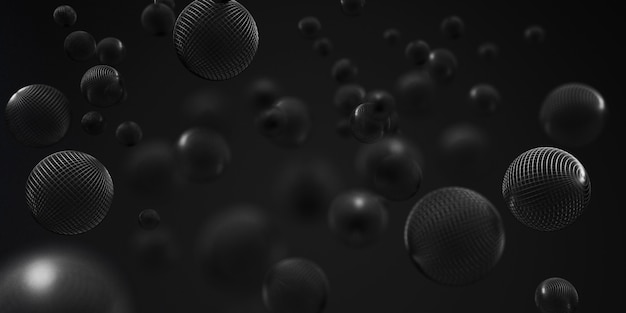 3d-weergave van abstracte bubbels op witte achtergrond
