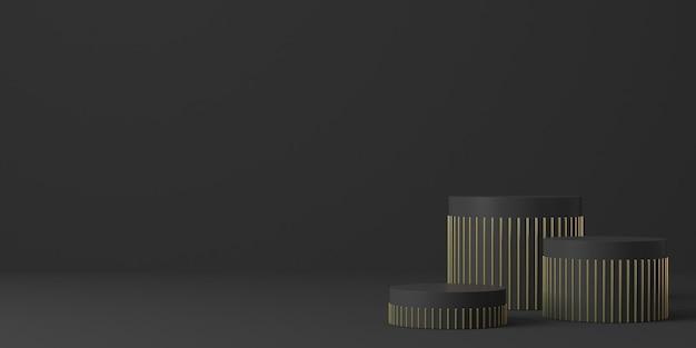 3d-weergave van abstracte compositie voor productpresentatie