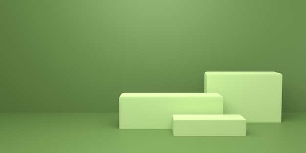 3d-weergave van abstracte minimale concept achtergrond