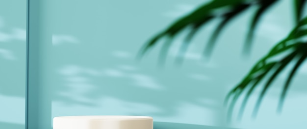 3d-weergave van blanco productachtergrond voor achtergrondmode en crèmecosmetica-decoraties. moderne lege podiumachtergrond voor luxeproduct.