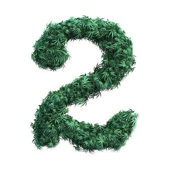3d-weergave van cannabis nummer 2