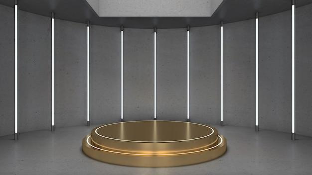 3d-weergave van cirkelpodium voor showproduct