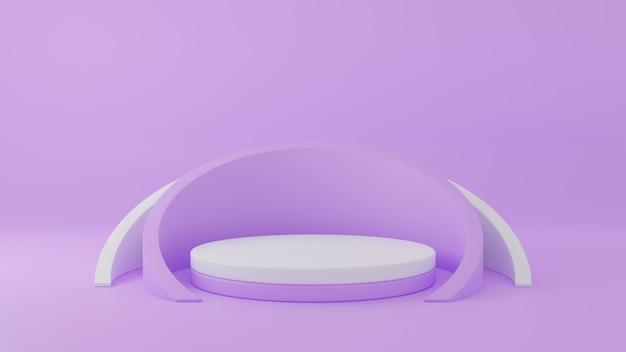 3d-weergave van cirkelpodium voor weergave van reclameproducten