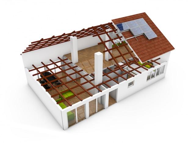 3d-weergave van een architectuur-model