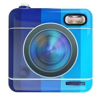 3d-weergave van een fotocamera-pictogram
