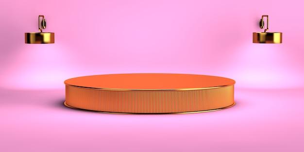 3d-weergave van een geometrische achtergrond voor commerciële reclame