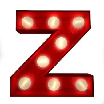 3d-weergave van een gloeiende letter z ideaal voor zakelijke borden