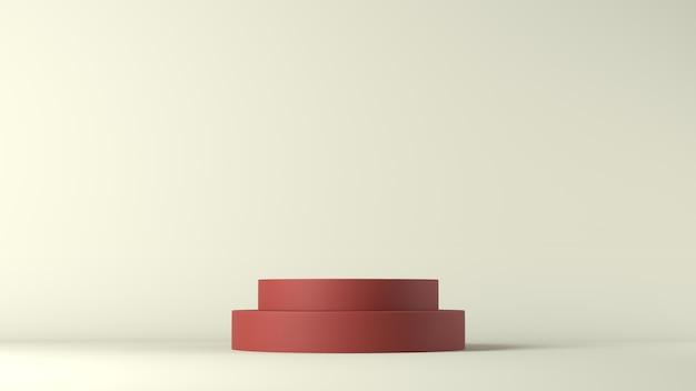 3d-weergave van een rood podium