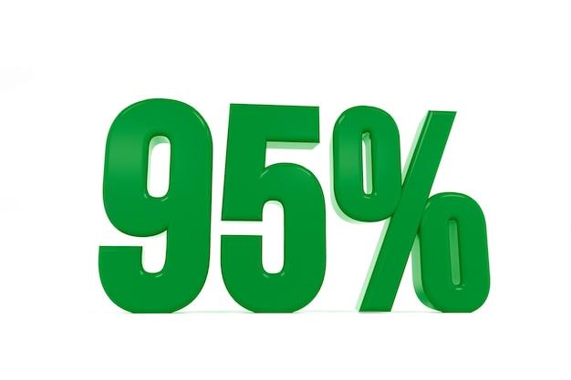 3d-weergave van een vijfennegentig procent-symbool