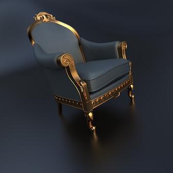 3d-weergave van een vintage sierlijke stoel