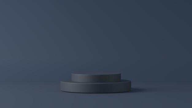 3d-weergave van een zwart podium