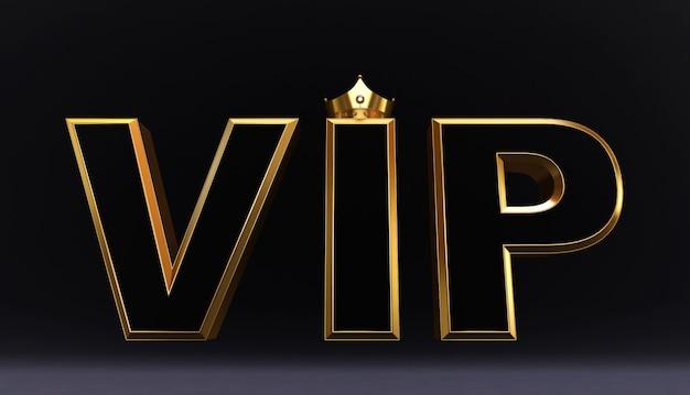 3d-weergave van golden vip crown, royal gold vip-kroon op kussen, crown vip