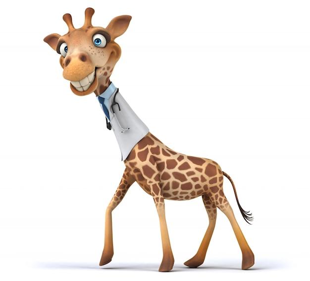 3d-weergave van grappige giraffe
