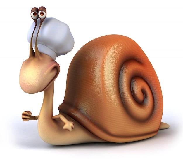 3d-weergave van grappige slak