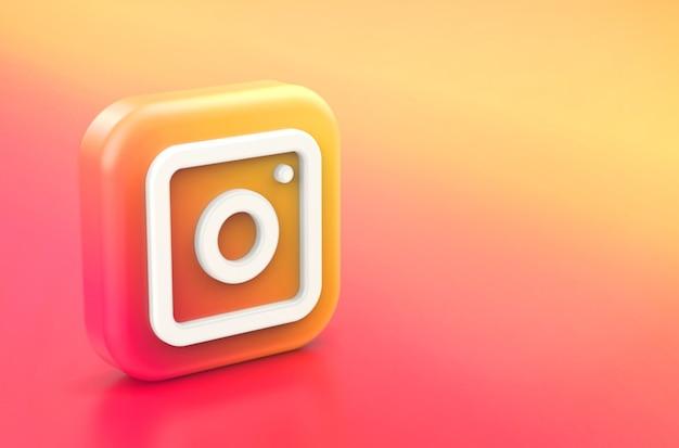 3d-weergave van het instagram-logo