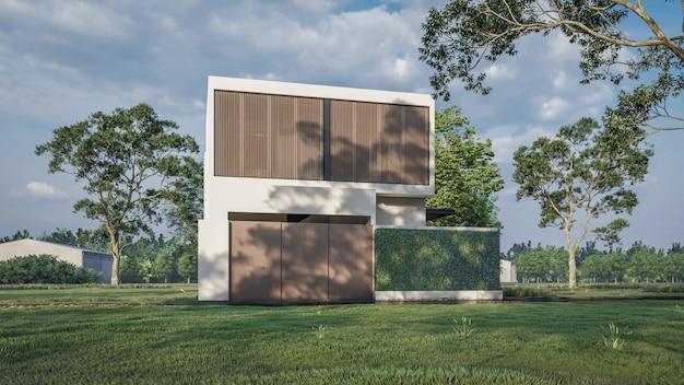 3d-weergave van huis visualisatie