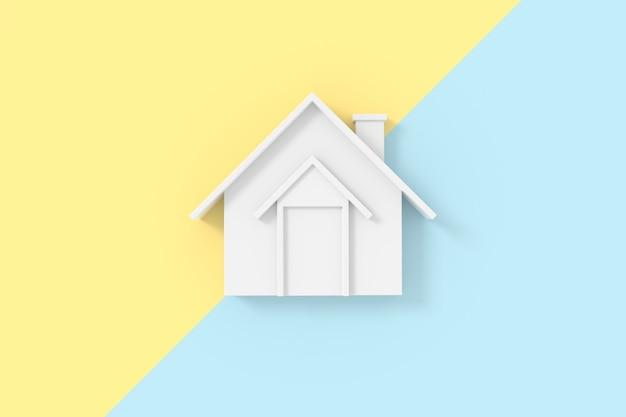 3d-weergave van huismodel.