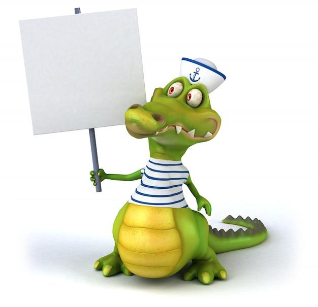 3d-weergave van krokodil