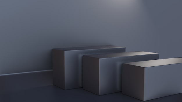 3d-weergave van kubusfase met grijze kleur