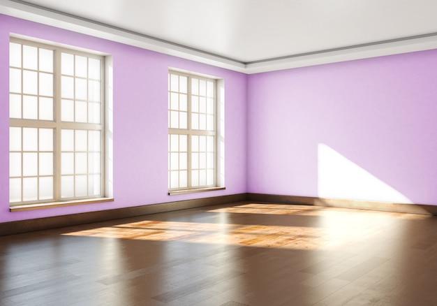 3d-weergave van leeg interieur