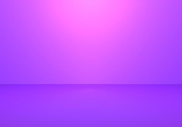 3d-weergave van lege paarse abstracte minimale concept achtergrond