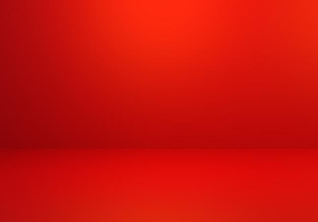 3d-weergave van lege rode abstracte minimale conceptenachtergrond.