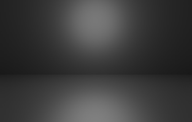 3d-weergave van lege zwarte abstracte minimale concept achtergrond