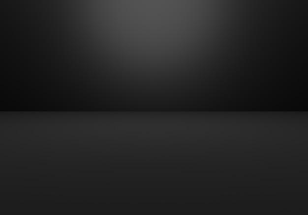 3d-weergave van lege zwarte abstracte minimale concept background