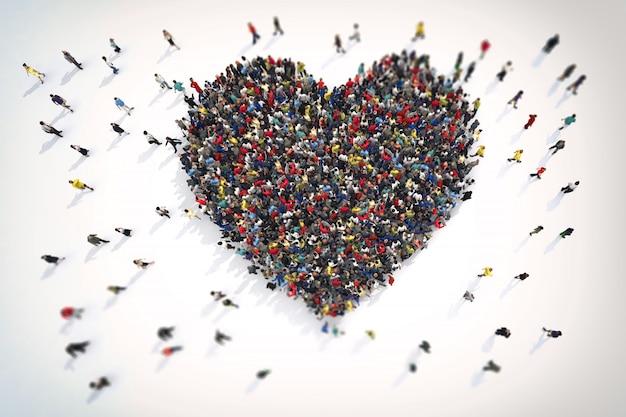 3d-weergave van liefde