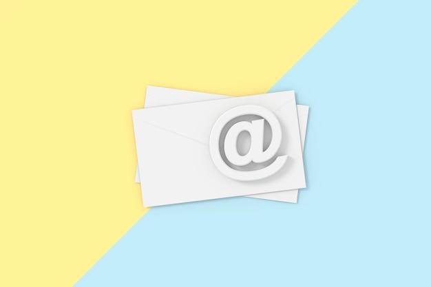3d-weergave van mail.