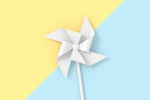 3d-weergave van papier windturbine.