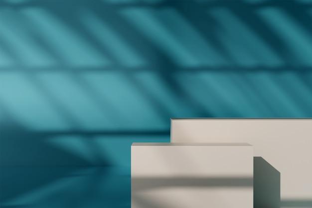 3d-weergave-van-product-weergave-met-schaduwen-in-muur