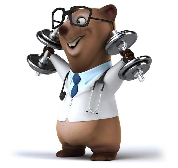 3d-weergave van schattige beer