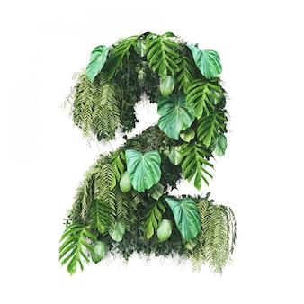 3d-weergave van verticale tuin nummer 2