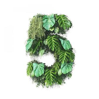 3d-weergave van verticale tuin nummer 5