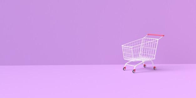 3d-weergave van winkelwagen