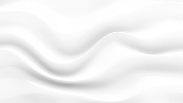 3d-weergave van witte plooien en wervelingen