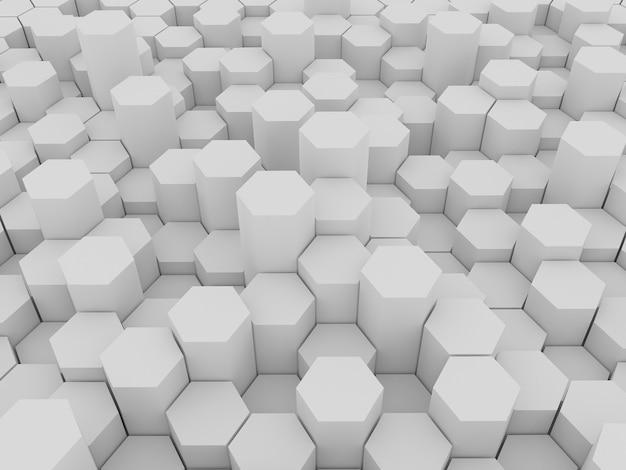 3d-weergave van zeshoeken achtergrond d rendering