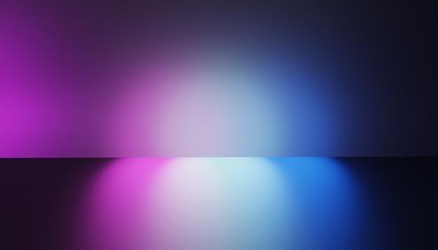 3d weerspiegelen verlichting roze en blauw kleurenbeeld. 3d illustratie afbeelding.