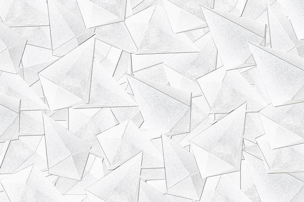 3d witte asymmetrische zeshoekige bipyramid patroon achtergrond
