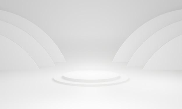 3d-witte cirkel podium podium